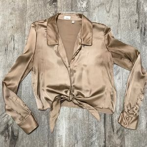 Wilfred Shine Tie-Front Blouse